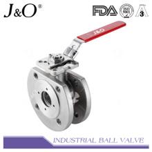 Válvula de esfera de tipo wafer com almofada de montagem direta ASME 150lbs