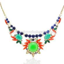 Sunshine Shape Oval Stone Charms Classical Chain Necklace