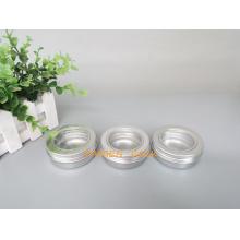 60g Silber-Aluminium-Glas mit Fensterdeckel für Lebensmittelverpackung (PPC-ATC-60)