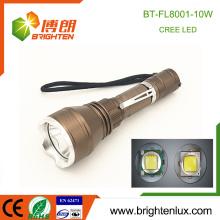 Factory Outlet 3 Modes Light Handheld Aluminium Cree xml t6 10w führte taktische beste mächtigste wiederaufladbare Taschenlampe