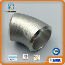 ASME B16.9 acier inoxydable raccords de tuyaux sans soudure Ss coude (KT0386)