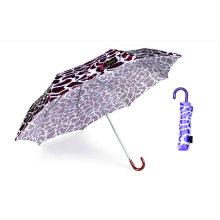 Crocodile Skin Compact Manual Aluminum Umbrella (YS-3FM21083947R)