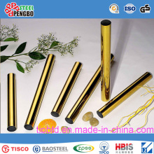 Golden Welded 304 Stainless Steel Pipe with SGS Certificate