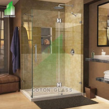 Portas de chuveiro de vidro deslizante sem moldura