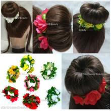 Flores y hojas Pulsera de bolas Cinta de pelo floral (HEAD-103)