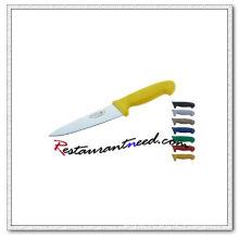 Cuchillo U386 con mango de plástico amarillo