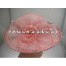 Новая равнина Sinamay Hat оптовой для женщин церкви