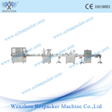 Automatic Glass Jar Capping Machine with Filling Labeling Packing Line