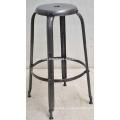 vintage industrial metal plated Bar stool