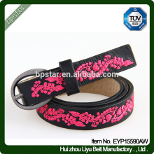 Broderie à ceinture en cuir véritable pour la robe féminine Jeans Bracelet Cintos de couro Mode Femmes Ceinture