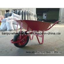 Schwerlastschubkarre mit einzelnem pneumatischem Rad und Metallbehälter Wb6411