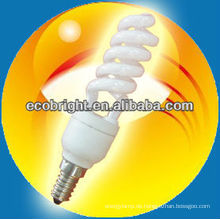 energiesparende Lampe Super Mini Halbspirale 7mm 8000H CE Qualität