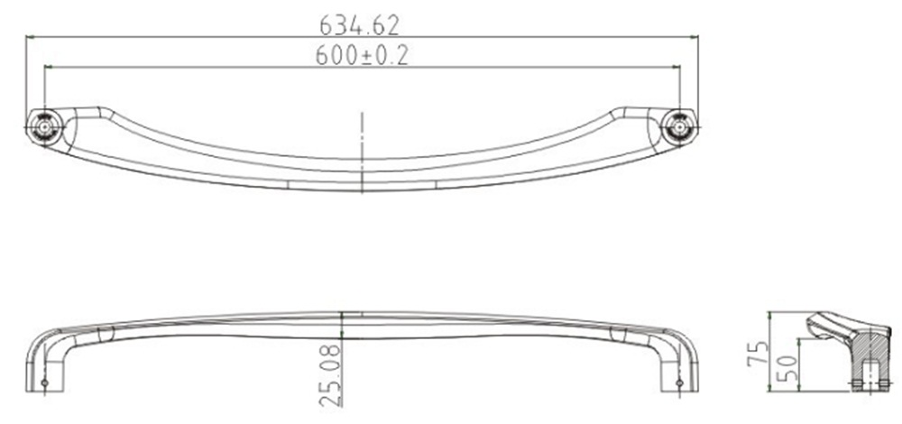 Big Handle for Sliding Door Drawing