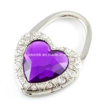 Heart-Shaped Diamond Purse Hook