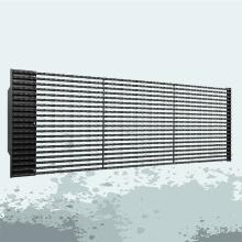 Telas de fachada de mídia de vídeo led P25 para exterior