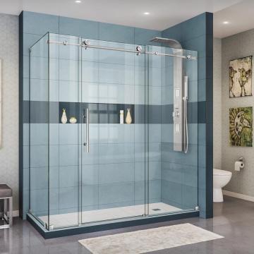 Paneles de pared de ducha de vidrio templado de 6 mm 8 mm 10 mm