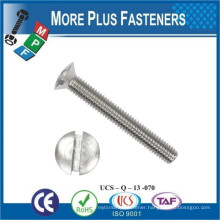 Made in Taiwan DIN 964 Stainless Steel Black Phosphate Zinc Plated Slotted Raised Countersunk Head Machine Screw