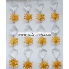 Artificial Beaded Garland Chains with Flowers and Leaves shaped for Christmas Tree Decoration