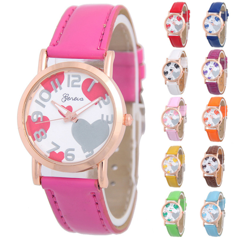 New Casual watch hot sale leather ladies watch