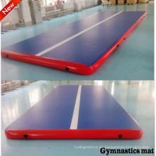 Alta calidad gota puntada gimnasio inflable colchón para el entrenamiento de gimnasia