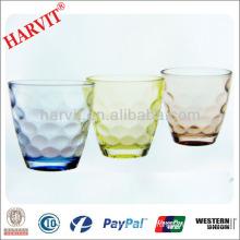 Wholesale Dinnerware Drinkware Glass Tumbler With Round Bottom / Italian Wine Glass Carved