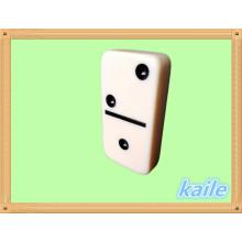 Domino doble de 6 marfil embalado en caja de PVC