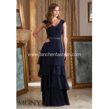 V-Neck Ruffle Women Dress