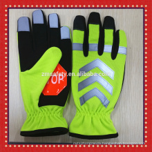 Reflective Safety Protective Hi-Viz Traffic Gloves With Stop Sign