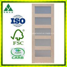 5 Lite / vidro Shaker folheado de madeira porta francesa