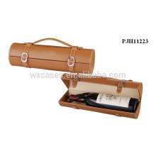 portador de couro vinho quente vendas de alta qualidade para frasco único fabricante