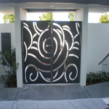 Laser Cut Metal Screen Gates