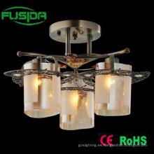 Lámpara de techo de cristal de interior de lujo de la lámpara de la lámpara de la vendimia
