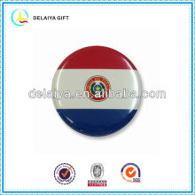 The Paraguay flag tin badge