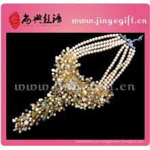 Collares hechos a mano Crystal Pearl Chunky Set Luxury Jewelry