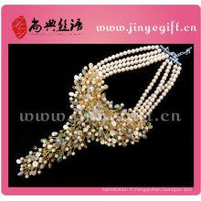 Colliers Chunky faits à la main en cristal perle Set bijoux de luxe