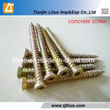 Parafuso de concreto de zinco amarelo de aço carbono