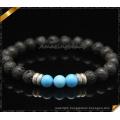 New Style Stone Bracelets with Black Lava Beads (CB0113)