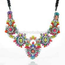 Big Charms Colorful Layers Pendants Women Necklace