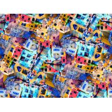 Nylon imprimé numérique de tissu pour le maillot de bain (ASQ094)