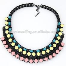 2015 Trendy braided lady big choker necklace