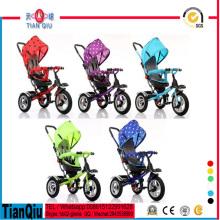Triciclo de tres ruedas para niños triciclo Triciclo con dosel