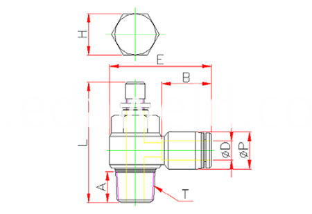SL Pneumatic Quick Connector Fittings