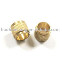 Custom Knurling Brass Bushing With 0.7mm Pitch