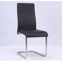 Кожа PU обеденный стул с хромированной ноги