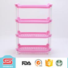 Bens de uso doméstico 4 camadas de armazenamento de plástico rack de tempero de cozinha com preço baixo