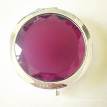 Miroir compact en cristal miroir violet chaud (BOX-15)