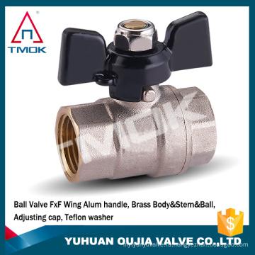 латунный шаровой клапан TMOK Бабочка/T ручка женского БСПБ полнопроходной санитарно-кованые WOG600 воды запорный клапан латунь cw617n