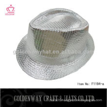 silver sequin fedora hat F1194-a