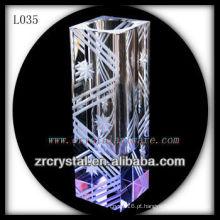 Vaso de cristal agradável L035
