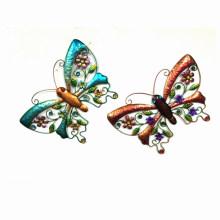 2 Asst Garden Colorful Butterfly Metal Wall Decoration